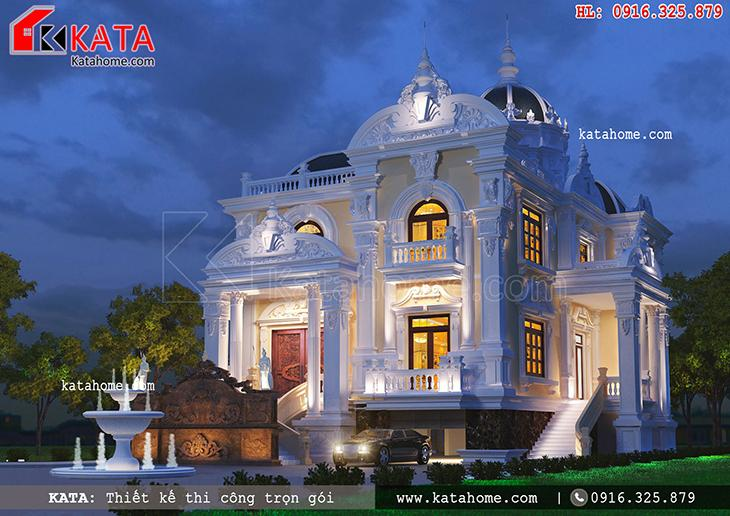 Sự lộng lẫy, sang trọng của mẫu thiết kế biệt thự lâu đài 2 tầng tại KATA mở ra một không gian trường phái quyến rũ