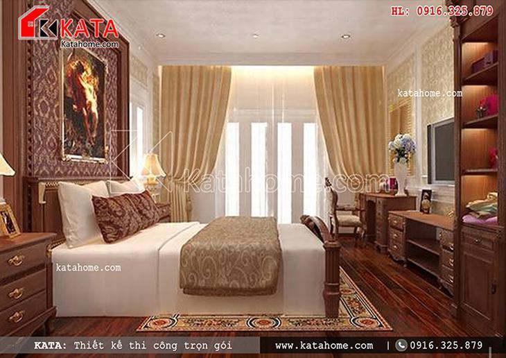 Không gian phòng ngủ cổ điển với màu sắc hài hòa 2