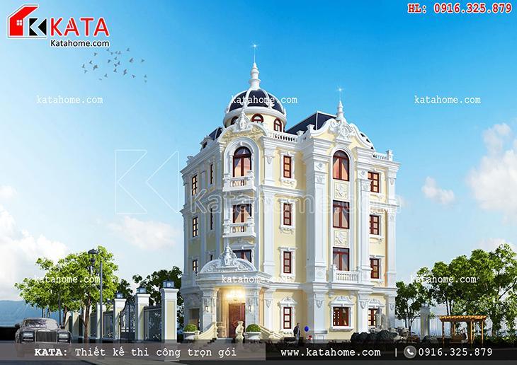 Thiết kế lâu đài 4 tầng cổ điển của Pháp - Mã số: LD 47025 (3)