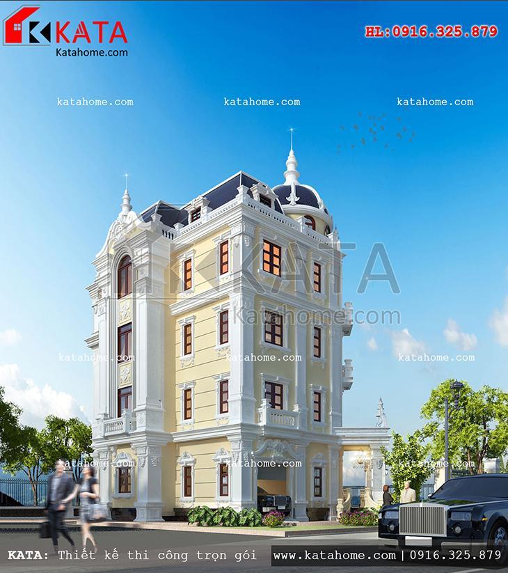 Thiết kế lâu đài 4 tầng cổ điển của Pháp - Mã số: LD 47025 (2)