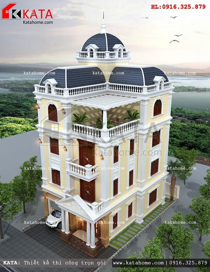 Mẫu thiết kế biệt thự Pháp lâu đài 4 tầng
