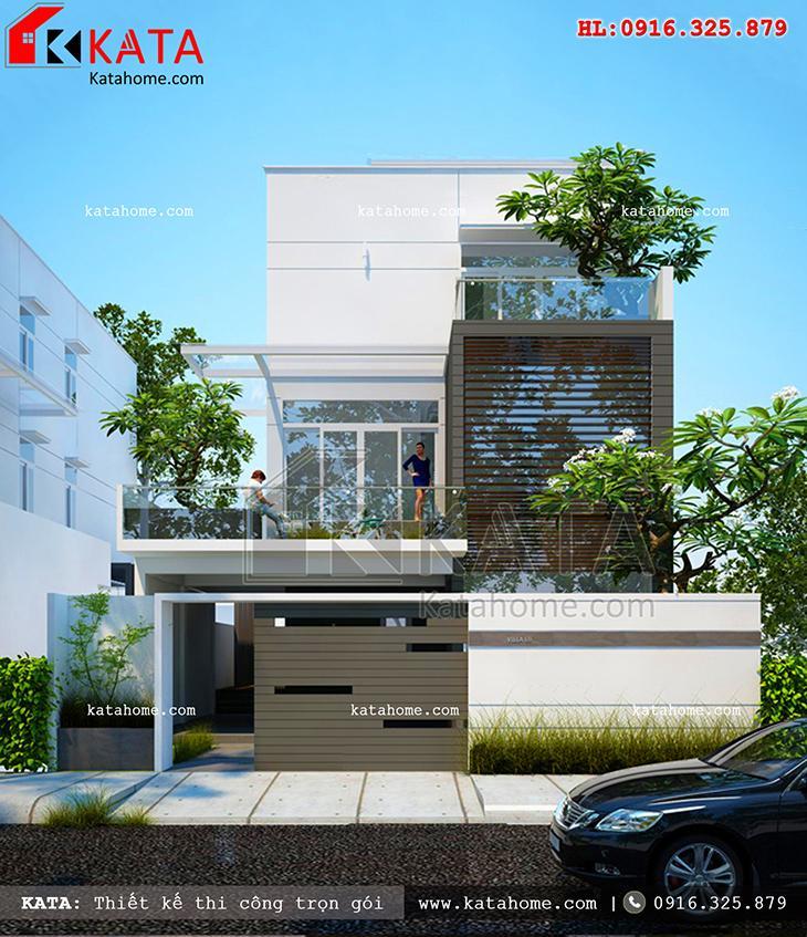 Thiết kế nhà ở 5x17m 3 tầng hiện đại tại Thanh Hóa – Mã số: NP 37059