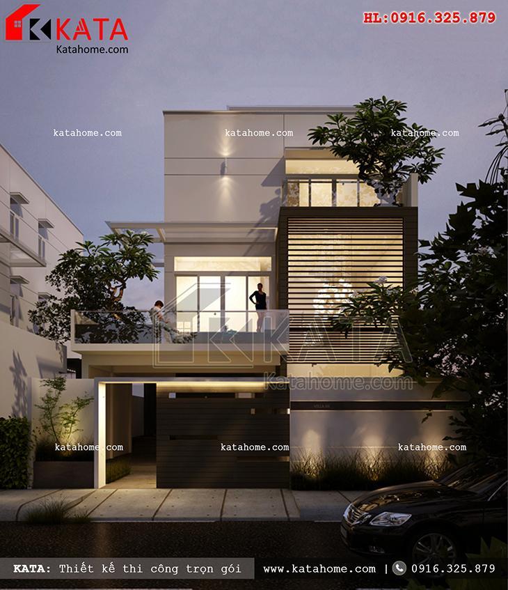 Mẫu nhà phố hiện đại 3 tầng được thiết kế vô cùng tinh tế đến từng tiểu tiết kiến trúc