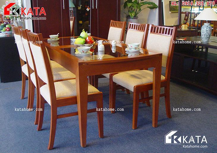 Mẫu bàn ăn đẹp, sản xuất đồ gỗ nội thất, Mẫu bàn ăn đẹp - Mã số: BA 11007