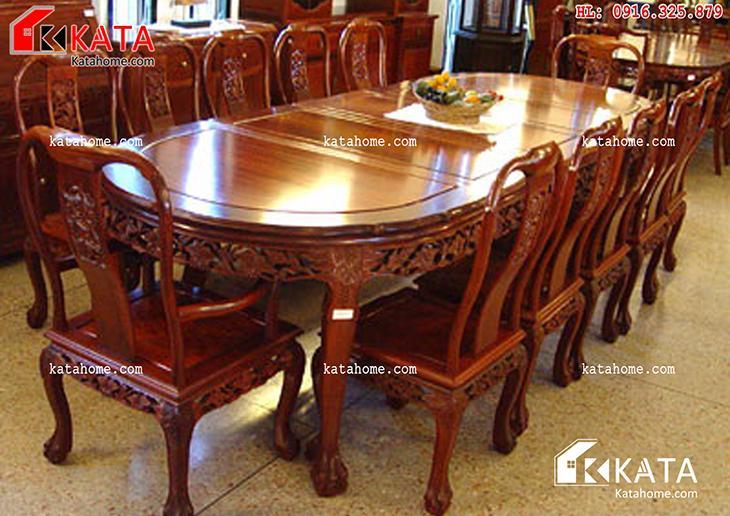 Mẫu bàn ăn đẹp, sản xuất đồ gỗ nội thất, Mẫu bàn ăn đẹp - Mã số: BA 11013