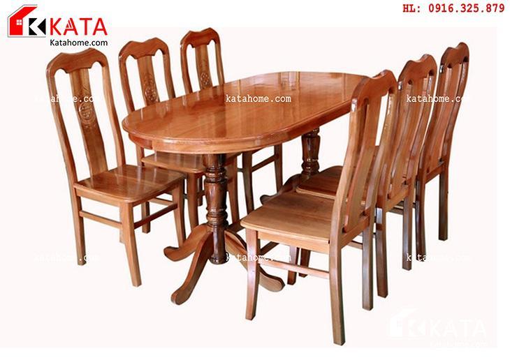 Mẫu bàn ăn đẹp, sản xuất đồ gỗ nội thất, Mẫu bàn ăn đẹp - Mã số: BA 11011