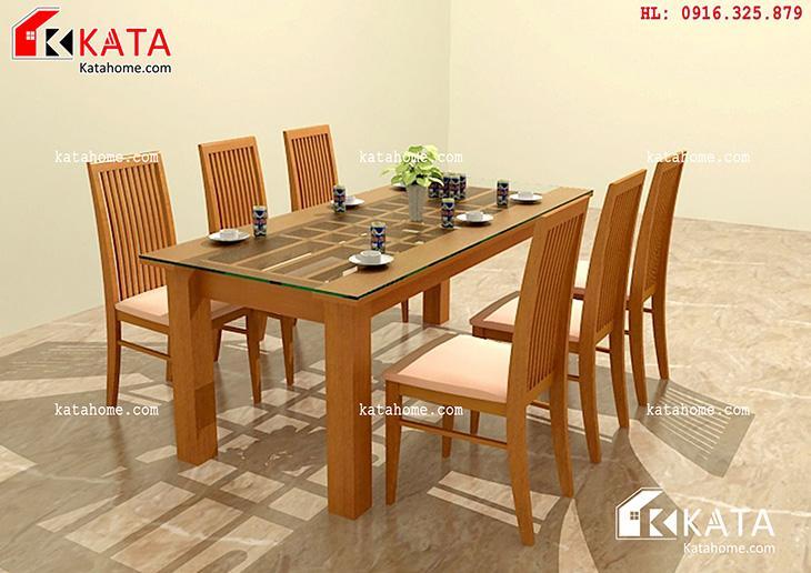Mẫu bàn ăn đẹp, sản xuất đồ gỗ nội thất, Mẫu bàn ăn đẹp - Mã số: BA 11008