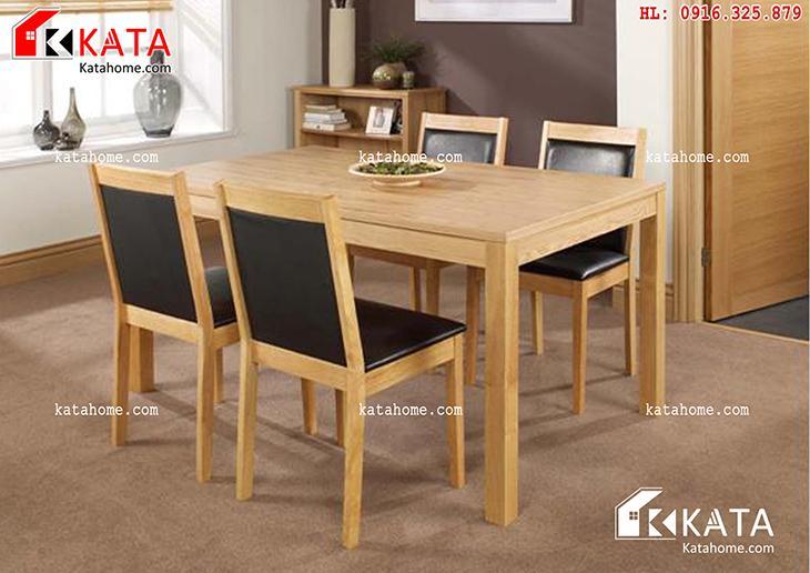 Mẫu bàn ăn đẹp, sản xuất đồ gỗ nội thất, Mẫu bàn ăn đẹp - Mã số: BA 11009