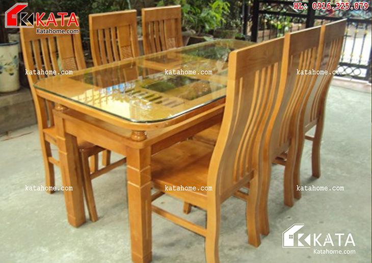 Mẫu bàn ăn đẹp, sản xuất đồ gỗ nội thất, Mẫu bàn ăn đẹp - Mã số: BA 11010