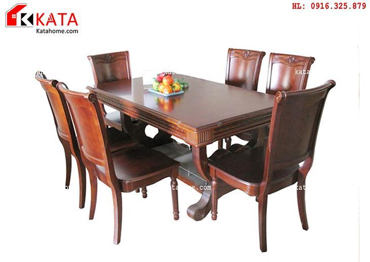 Mẫu bàn ăn đẹp, sản xuất đồ gỗ nội thất, Mẫu bàn ăn đẹp - Mã số: BA 11016