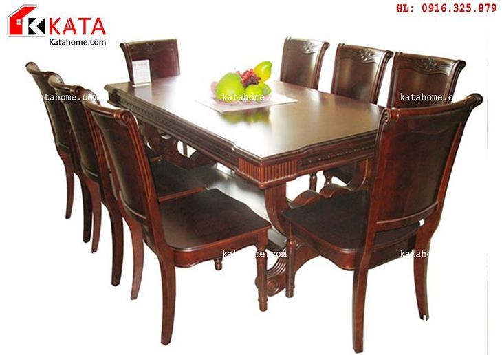 Mẫu bàn ăn đẹp, sản xuất đồ gỗ nội thất, Mẫu bàn ăn đẹp - Mã số: BA 1101