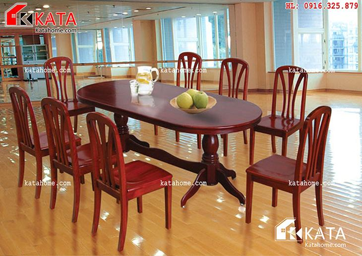Mẫu bàn ăn đẹp, sản xuất đồ gỗ nội thất, Mẫu bàn ăn đẹp - Mã số: BA 11018