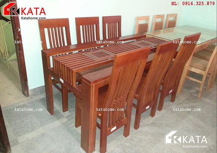 Mẫu bàn ăn đẹp, sản xuất đồ gỗ nội thất, Mẫu bàn ăn đẹp - Mã số: BA 11014