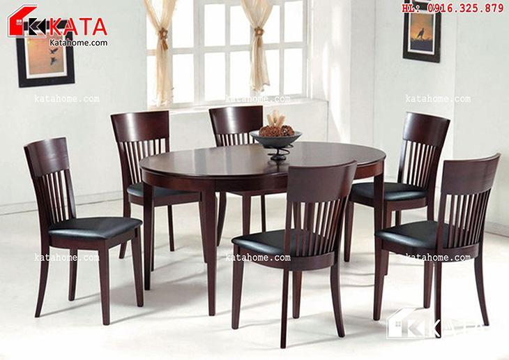 Mẫu bàn ăn đẹp, sản xuất đồ gỗ nội thất, Mẫu bàn ăn đẹp - Mã số: BA 11019