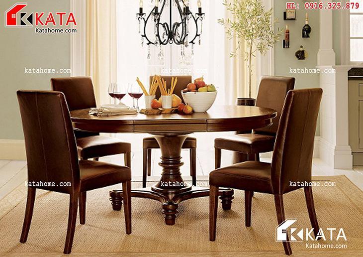 Mẫu bàn ăn đẹp, sản xuất đồ gỗ nội thất, Mẫu bàn ăn đẹp - Mã số: BA 11021