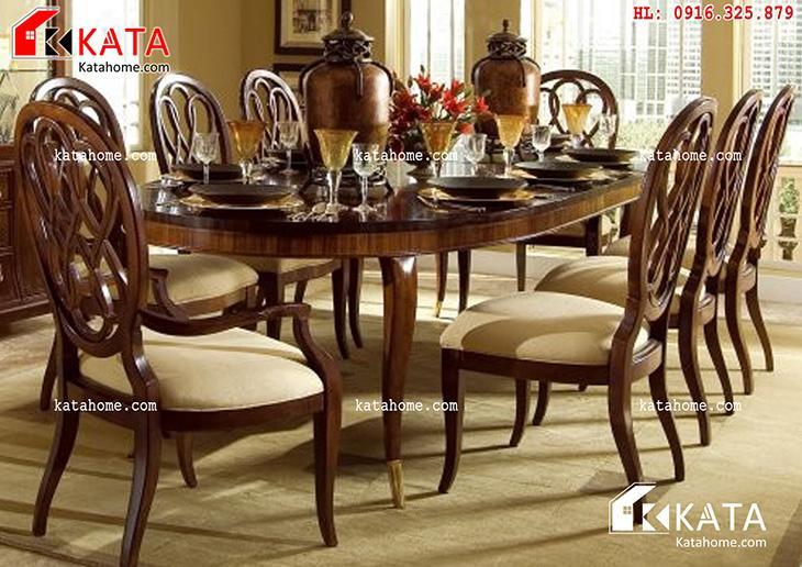 Mẫu bàn ăn đẹp, sản xuất đồ gỗ nội thất, Mẫu bàn ăn đẹp - Mã số: BA 11020