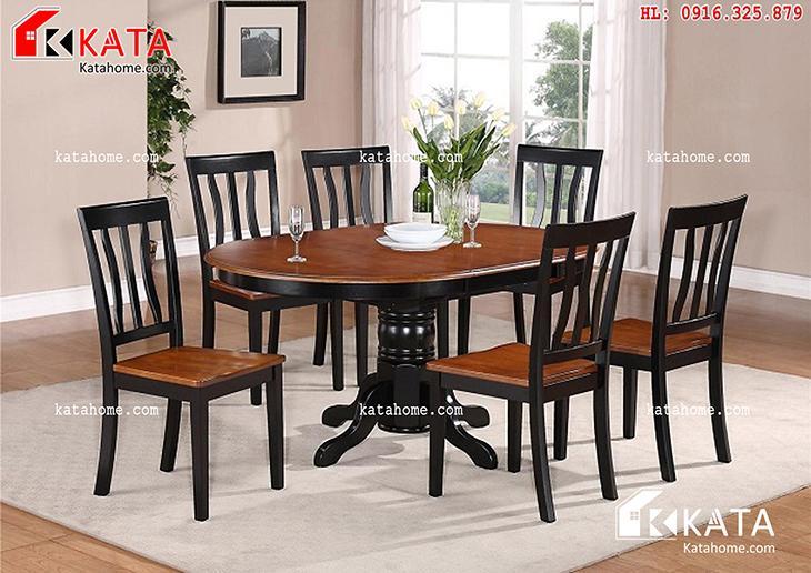 Mẫu bàn ăn đẹp, sản xuất đồ gỗ nội thất, Mẫu bàn ăn đẹp - Mã số: BA 11022
