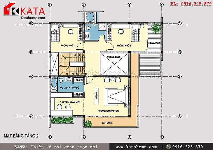 Không gian tầng 2 là nơi riêng tư và nghỉ ngơi của các thành viên trong gia đình