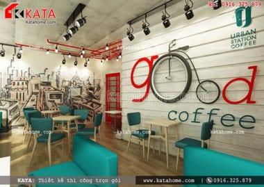 Thiết kế quán cà phê đẹp, văn phòng, thi công trọn gói