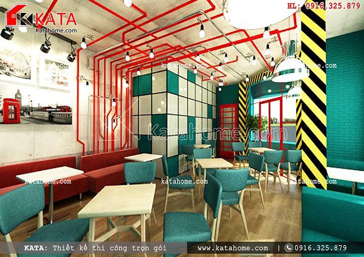 Không gian chỗ ngồi thưởng thức đồ uống, cafe của khách hàng