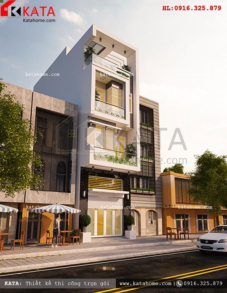 Một view nhìn khá đẹp của mẫu thiết kế nhà phố 4 tầng đẹp hiện đại