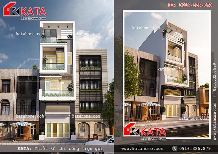 Thiết kế nhà phố 4 tầng đẹp hiện đại tại Ninh Bình – Mã số: NP 47058