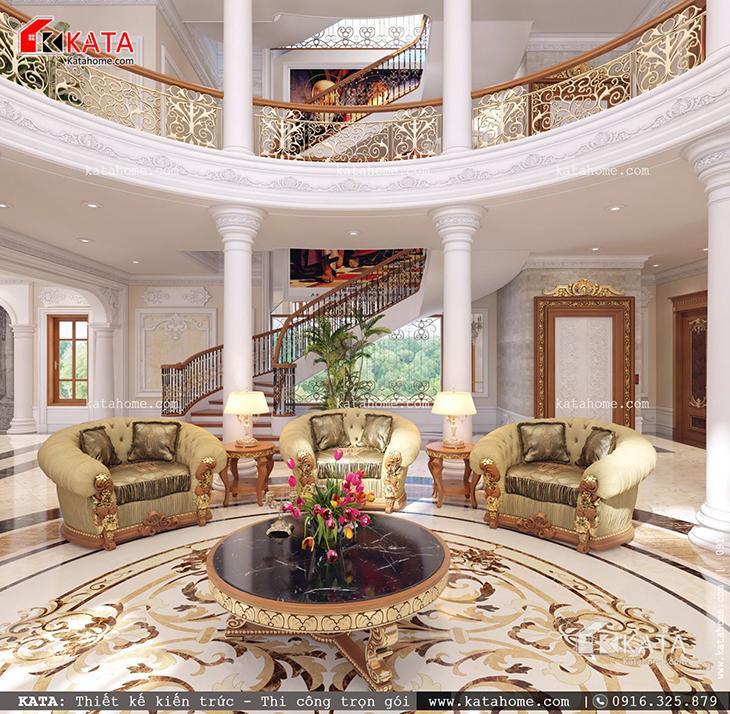 Thiết kế nội thất lâu đài phòng khách