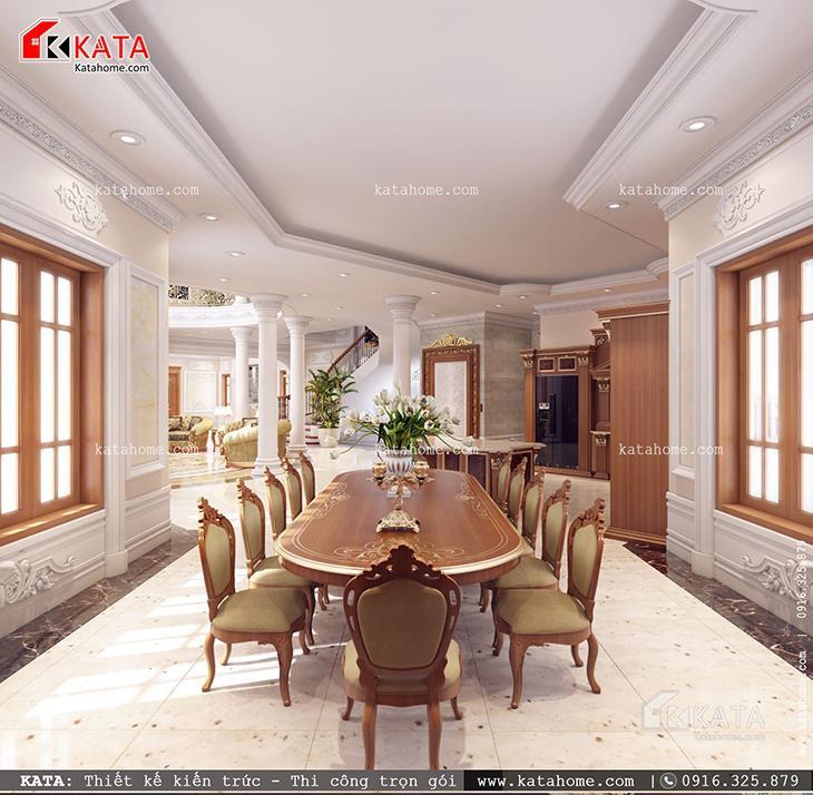 Thiết kế nội thất lâu đài đẹp cho không gian phòng bếp