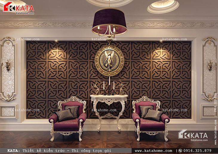 Thiết kế không gian nội thất của mẫu biệt thự lâu đài cổ điển 3 tầng kiểu Pháp cầu kỳ đẳng cấp đúng chất hoàng gia Pháp