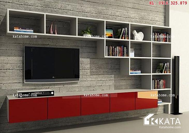 Katahome.com - Mẫu kệ Tivi đẹp, sản xuất đồ gỗ nội thất (2)