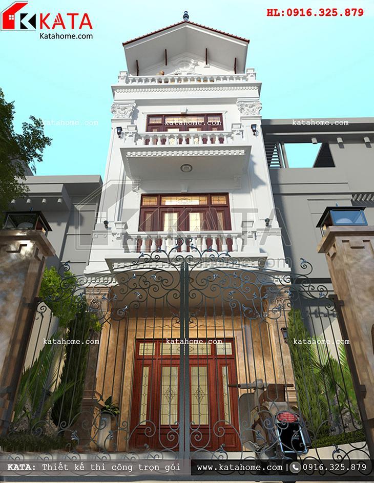 Một góc view nhìn khá đẹp của mẫu nhà phố 4 tầng đẹp - Mã số: NP 47023