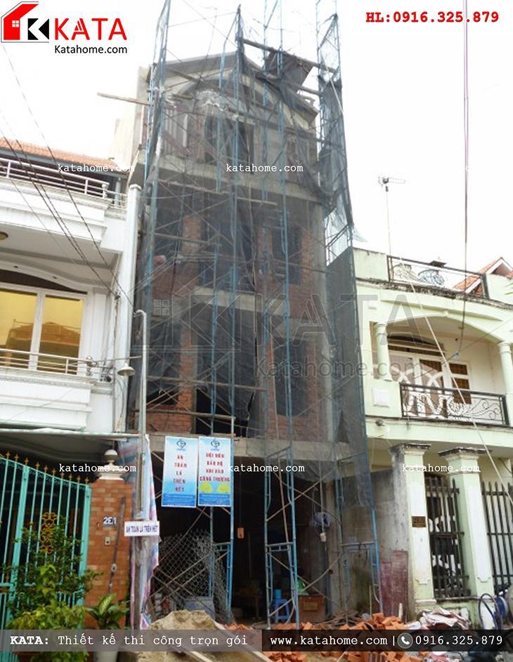 Thi công nhà ở trọn gói với mẫu biệt thự 3 tầng - Mã số: TC 13013 (14)