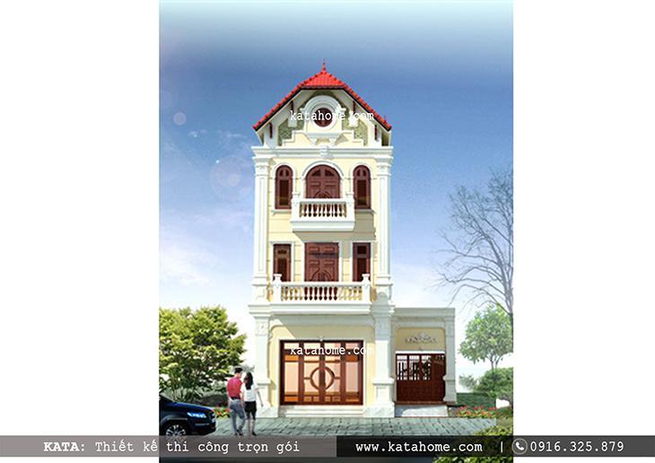 Thiết kế nhà lô phố đẹp 4 tầng cách tân từ kiến trúc Pháp sang trọng và lịch lãm