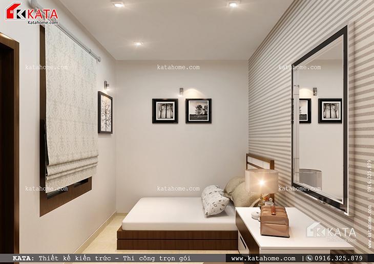 Mẫu thiết kế biệt thự 1 tầng - Phối cảnh cho phòng ngủ con gái út
