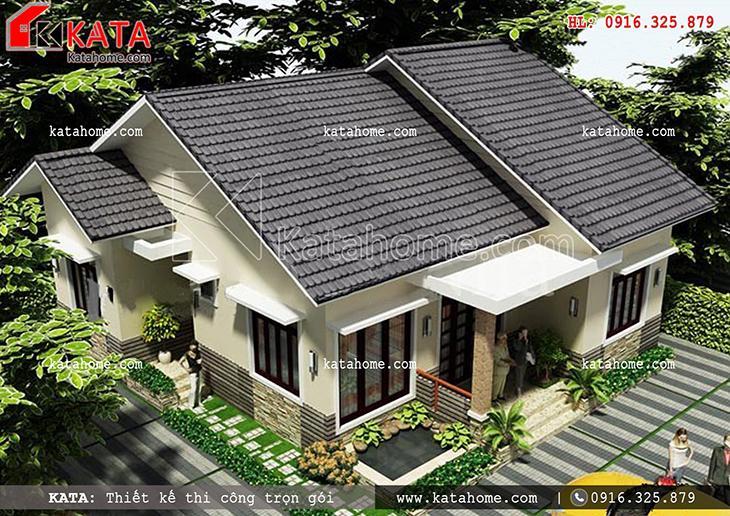 Thiết kế biệt thự nhà vườn 1 tầng tại Hòa Bình - Mã số: BT 15022 (3)