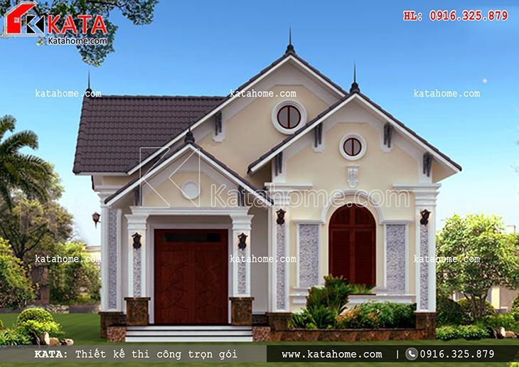 Lối kiến trúc hiện đại mang đậm dấu ấn trong phong cách thiết kế mẫu nhà cấp 4 mái Thái đẹp của người Việt