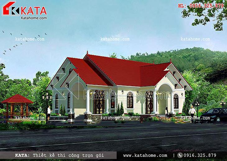 Thiết kế nhà mái Thái cấp 4 theo lối kiến trúc mái Thái