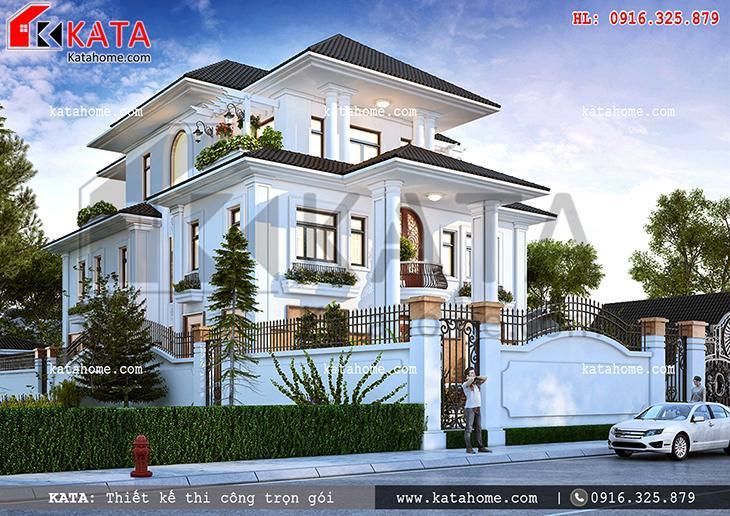 Mẫu biệt thự 3 tầng có 2 mặt phố tại Quảng Ninh - Mã số: BT 38029 (2)