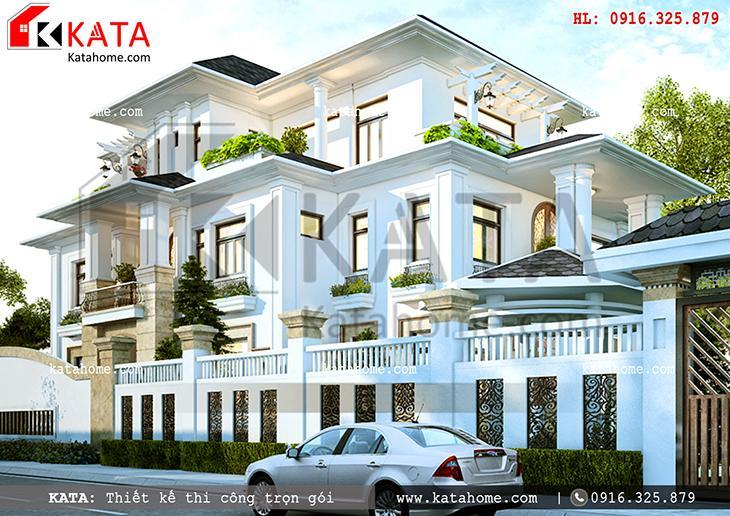 Phối cảnh của mẫu biệt thự 3 tầng 2 mặt tiền tại Quảng Ninh