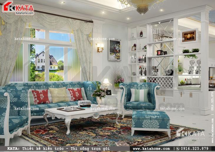 Thiết kế nội thất biệt thự tân cổ điển tại Bắc Ninh - Mã số: NT 17021