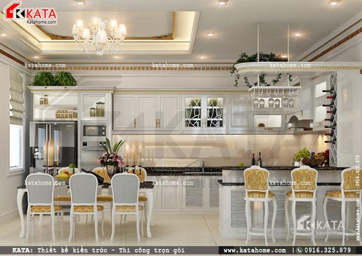 Thiết kế nội thất biệt thự tân cổ điển cho khu vực phòng ăn lịch lãm và sang trọng