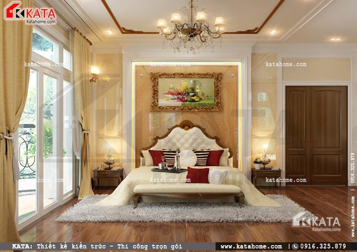 Thiết kế nội thất biệt thự tân cổ điển cho phòng ngủ đơn giản và nhẹ nhàng 3