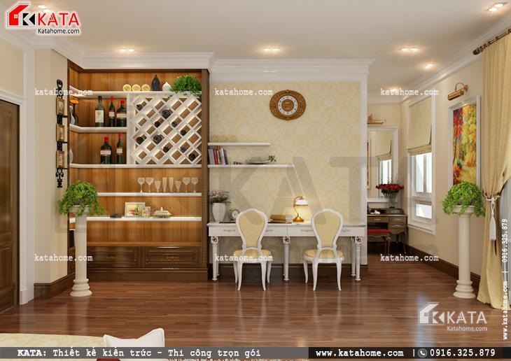 Thiết kế nội thất biệt thự tân cổ điển cho phòng ngủ đơn giản và nhẹ nhàng 1