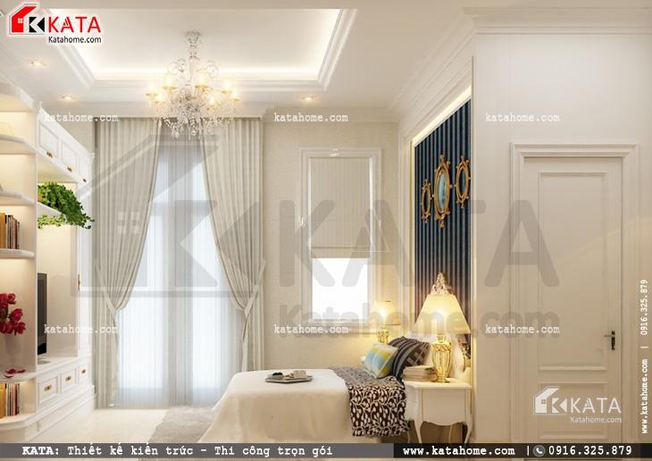 Thiết kế nội thất biệt thự tân cổ điển cho phòng ngủ đôi đơn giản và sang trọng 2