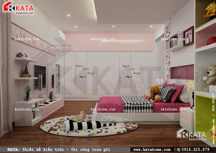 Thiết kế nội thất biệt thự tân cổ điển cho phòng của con gái 1