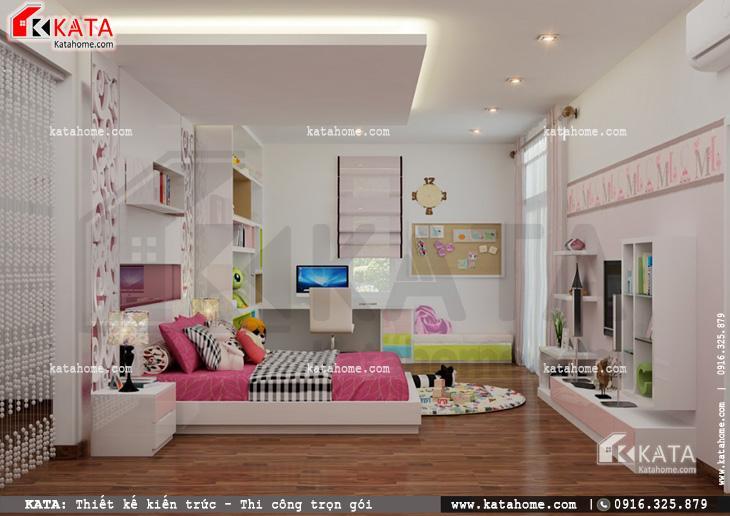 Thiết kế nội thất biệt thự tân cổ điển cho phòng của con gái