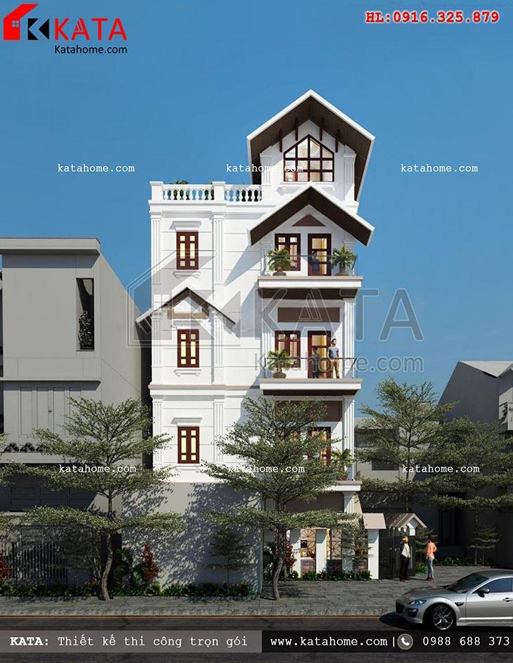 Thiết kế nhà ở 80m2 5 tầng tại Thái Nguyên – Mã số:BT 58031