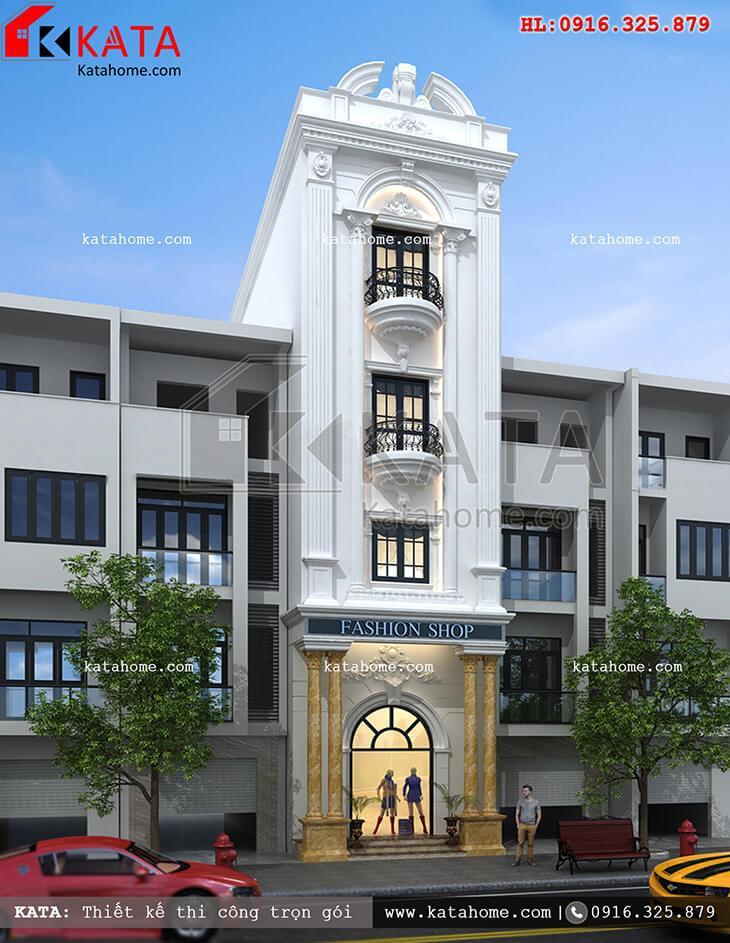 Một View nhìn khá đẹp của mẫu thiết kế nhà phố 4 tầng kết hợp kinh doanh - Mã số: NP 47029