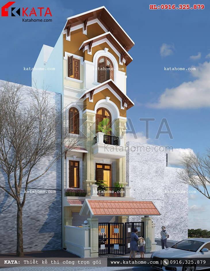 Một View nhìn khá đẹp của mẫu nhà phố 4 tầng tân cổ điển - Mã số: NP 48022