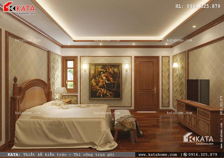 Thiết kế phòng ngủ của con gái cho mẫu nhà phố 4 tầng tân cổ điển vô cùng tiện nghi và được bố trí hợp lý (2)